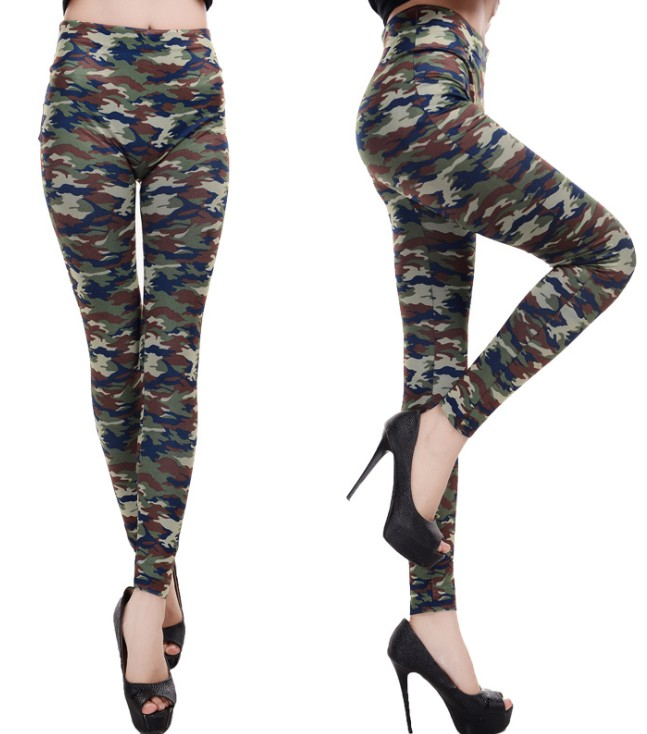 Seamless Camouflage military leggings Stretch tight legging pants