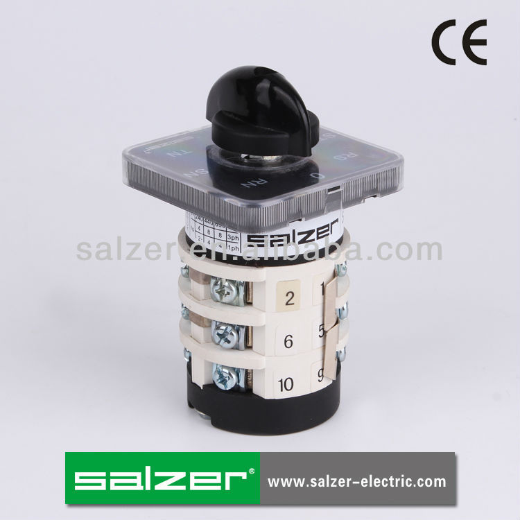Salzer CE Approved SAB16 7-3 7 Position Voltmeter Rotary Switch