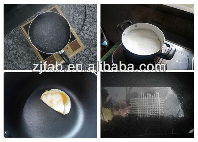 forged non stick olla aluminum green stone cookware casserole with stainless steel handle