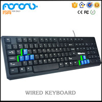 Detailed specifications computer keyboard USB office wired laptop pro keyboard