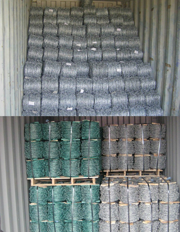 gauge 12*14 galvanized barbed wire price per roll /roll price fence razor barbed wire