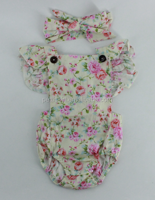 clothes vintage floral romper wholesale baby summer