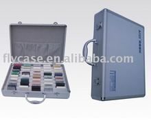 2012 new design stone sample chip case with logo print and safe locks