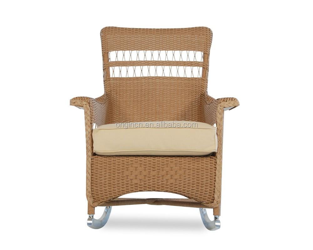 Rocking Designed Pe Rattan Fancy Sofa Chair Set Resin