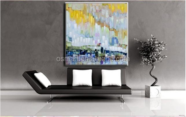 Dipinti Per Soggiorno : Quadri arte astratta dipinti ad olio moderna città tela arte