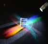 custom crystal glass visible light and infared band cube x-cube prism