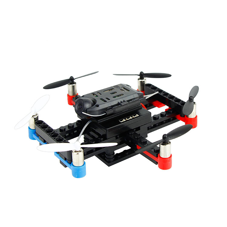 Children STEM toy mini building blocks quadcopter RC DIY drone