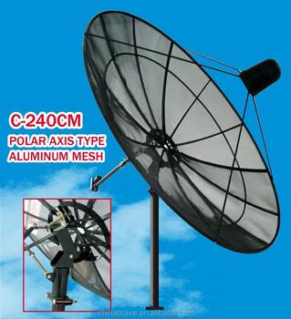 Good Selling 240cm Satellite Dish C Band Dish Tv Antenna Mesh Dish ...