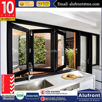 Australia Double glass bifold window for homes| Aluminium bi fold windows |windproof bi fold windows