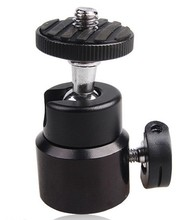 <span class=keywords><strong>Statief</strong></span> en monopod Metalen Mini ball head 360 Graden Swivel 1/4 ''hot shoe mount