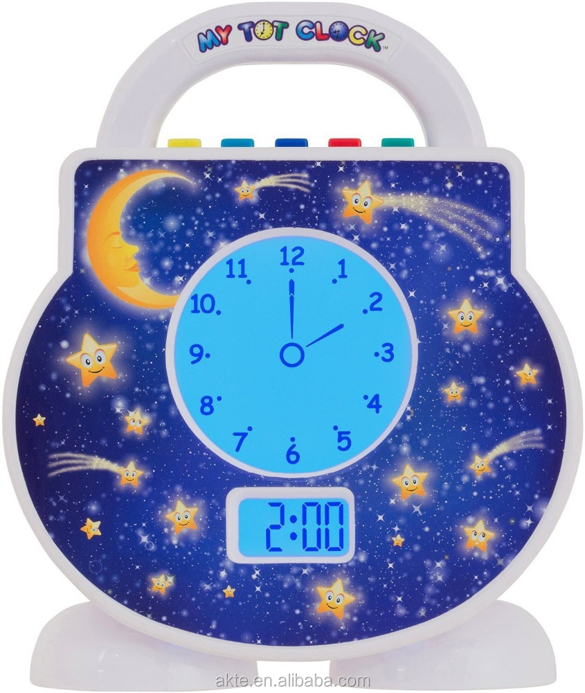 AKTE Customize Children Night Light Bed Time Alarming Funny Clock