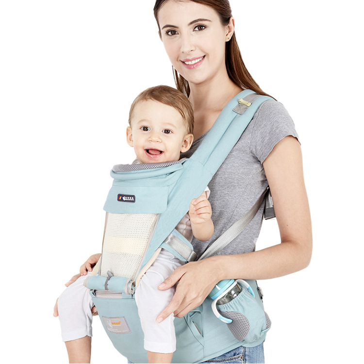 Osgoodway2 Cotton Ergonomic Baby Carrier Backpack Adjustable Breathable Front Facing Baby Carrier
