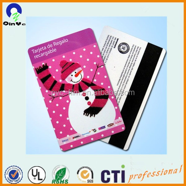Customizable white plastic rigid PVC sheet for ID/gift cards