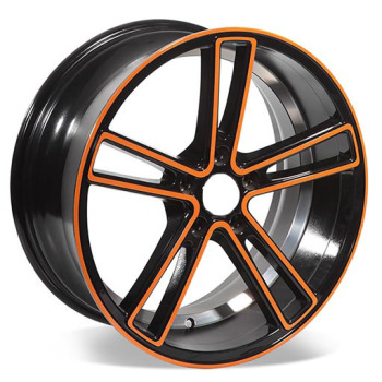 5 holes wholesale hot alloy wheels cars with color line
