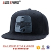 Black Flat Brim Snap Back Cheap Embroidery Snapback Hat Wholesale