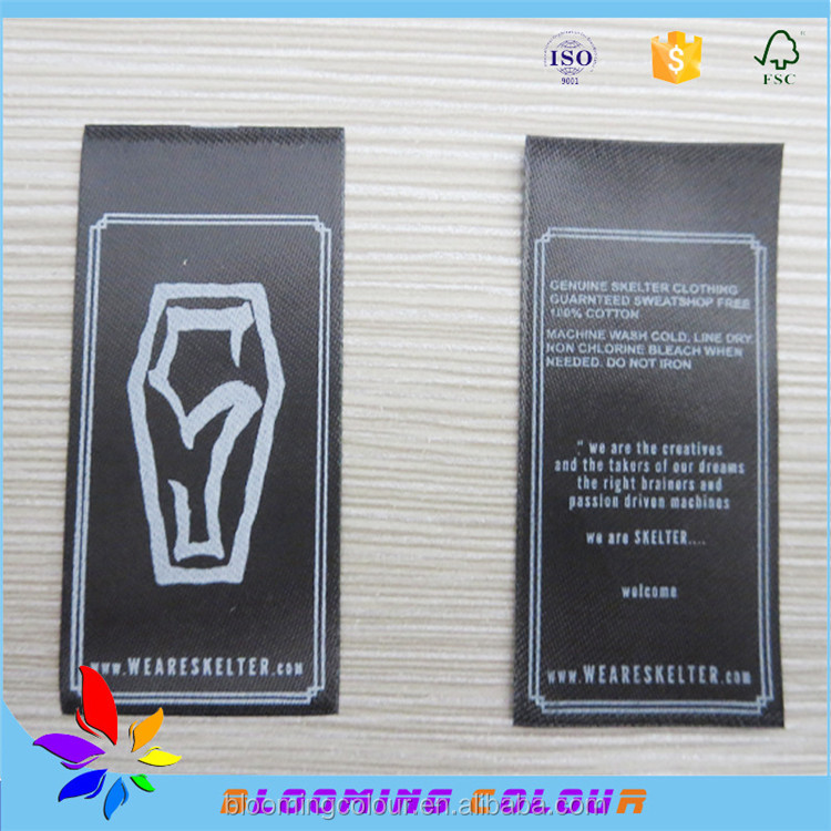 Factory wholesale widely used printed textile labels