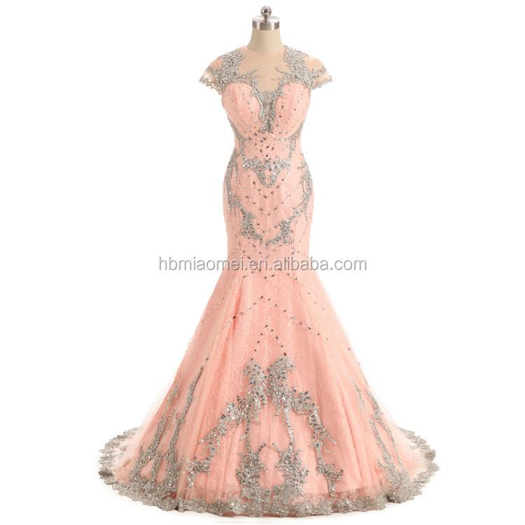 Rosa Farbe Schwere Perlen Brautjungfer Kleid Geschnürt Pfirsich ...