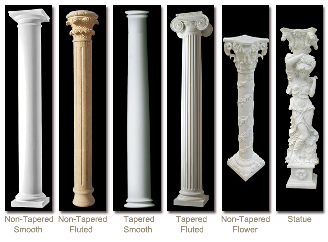 Home Decoration Pillar Roman Pillar Design Granite Gate Pillar Design