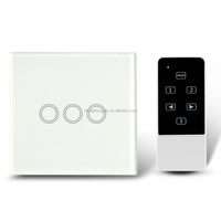 Touch Switch 3 Gang Single/double Way Smart Control On-off for Home Supplies - EU Standard Smart Touch Switch Smart Wall Switch