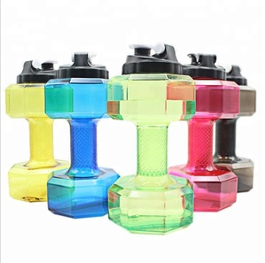 Free sample 2.5 L plastic dumbbell water bottle