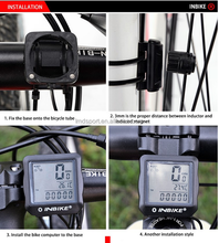 Waterproof electric bike computer, wireless Back light bicycle computer