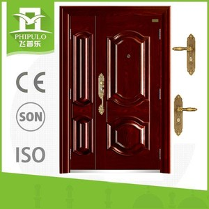 Luxury style high quality steel one half iron door from China supplier