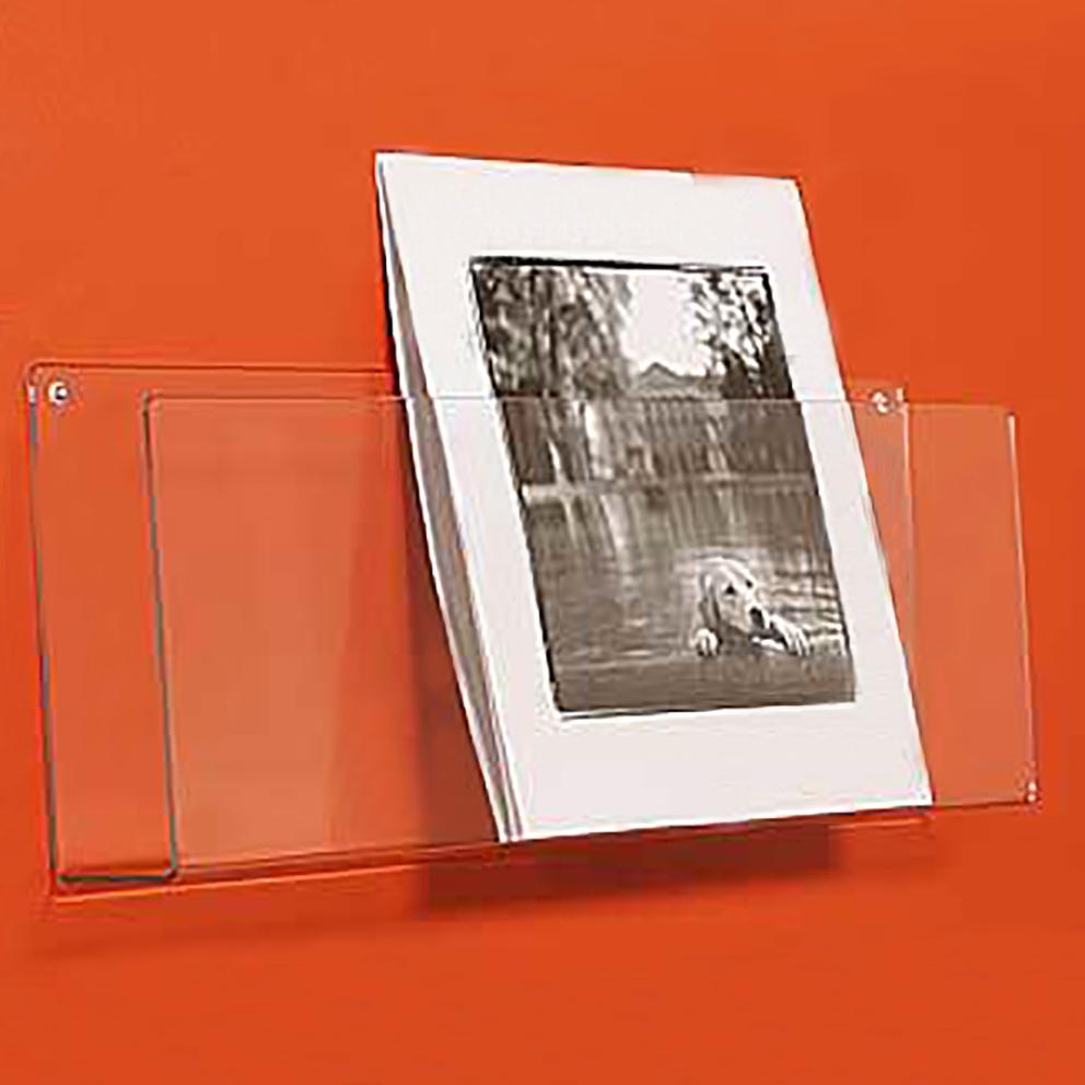 Wall Mounted Greeting Card Display Rackacrylic Postcard Brochure
