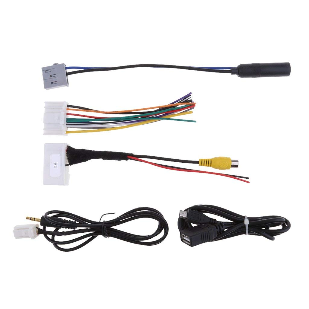 Get Quotations · Baoblaze Durable 5 Cables Kits Car Audio Wiring Harness  Radio Wire fit Teana Qashqai