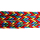 Manufacturer Hot Sale Four colors 8mm PP Flat Braided Rope
