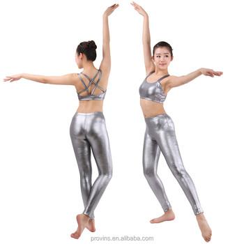 8719c6ad7 Sexy Shiny Modern Jazz Dance Costumes Metallic Leggings - Buy ...