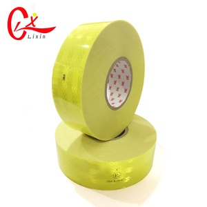 5cm*45.7 M 3 M Cinta Reflectante Rojo Blanco 3 M Reflector Sticker Reflective Tape Fluorescent Yellow Red White