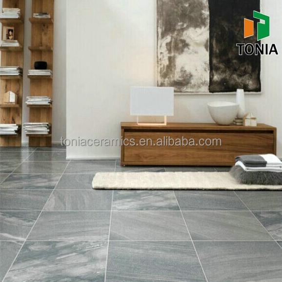 New Product Ostrich Grey Slate Design Porcelain Floor Tiles