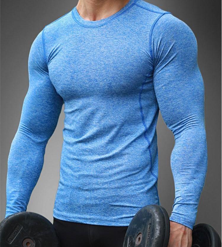 4e8dad40b 95% Poliéster 5% Tecido Spandex Slim Fit Roupas De Ginástica Homens Tshirt  - Buy Homens Ginásio De Vestuário