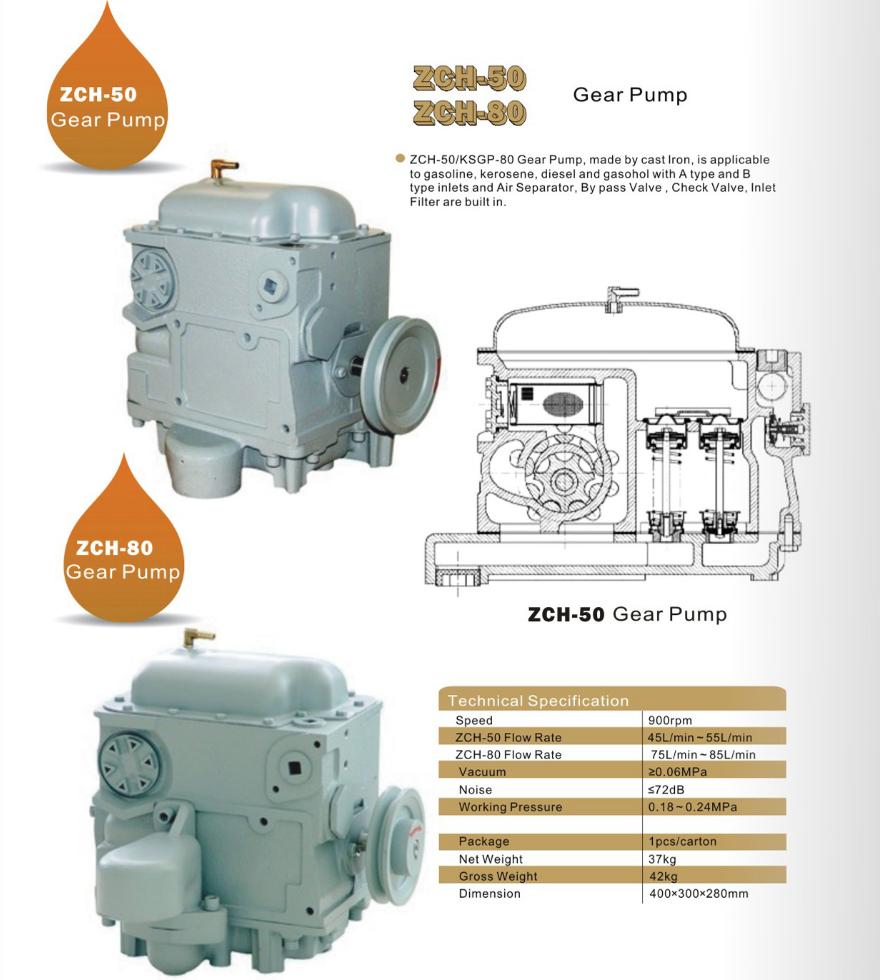 ZCH-80 gasoline gear pump