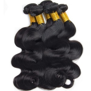 Wholesale Body Wave 100% Human Weaving, Raw Unprocessed Virgin Indian Hair Weaving Machine made virgin indian remy hair