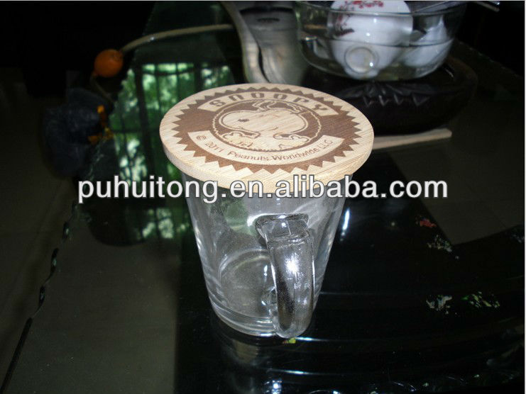 wooden cup lid/ bowl cover/ coaster