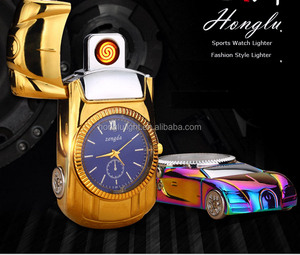 2017 New style windproof lighter watch/lighter watch/cheap custom Cigarettes