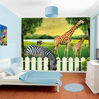 [SW-3049] Dolphin Wall Mural 3D Animation Photo Wallpaper Design for Girls' Room