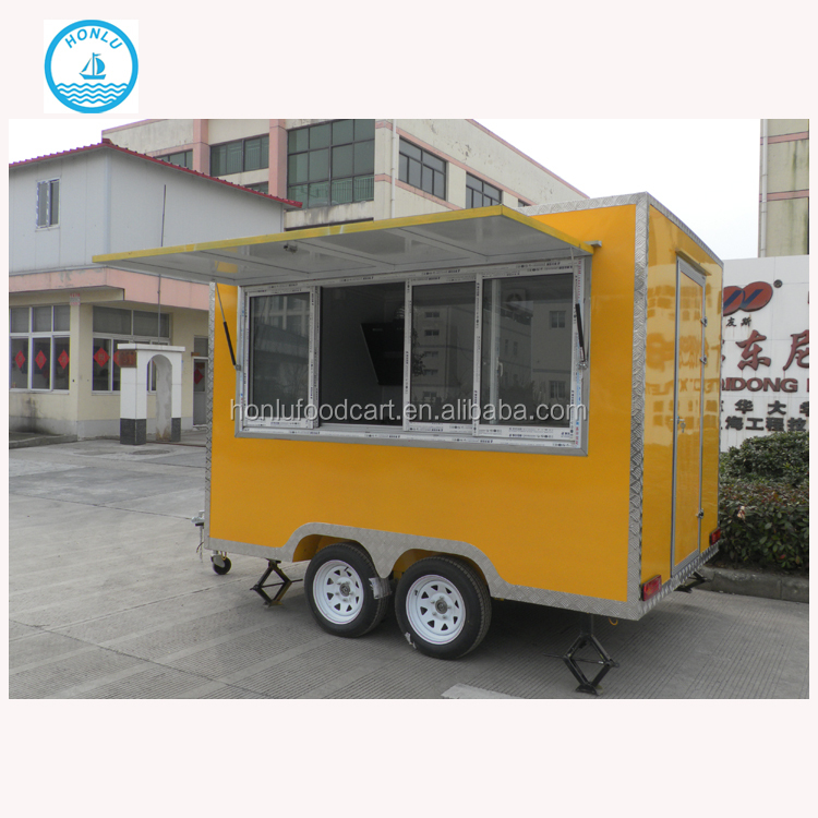 Honlu frozen food warmer truck/vintage food truck/food truck with CE approval