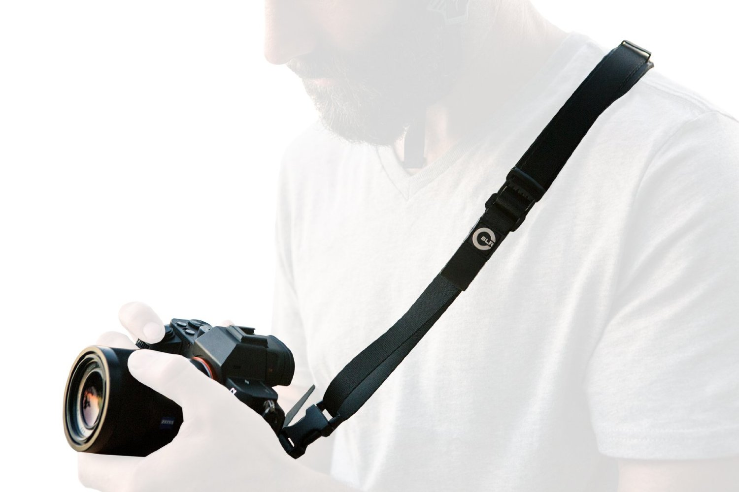 Custom SLR Slim Strap - Genuine Leather Camera Sling, Shoulder, Neck Strap for Mirrorless, Micro Four Thirds, Compact Cameras. Camera strap only. C-Loop Mini purchased separately.