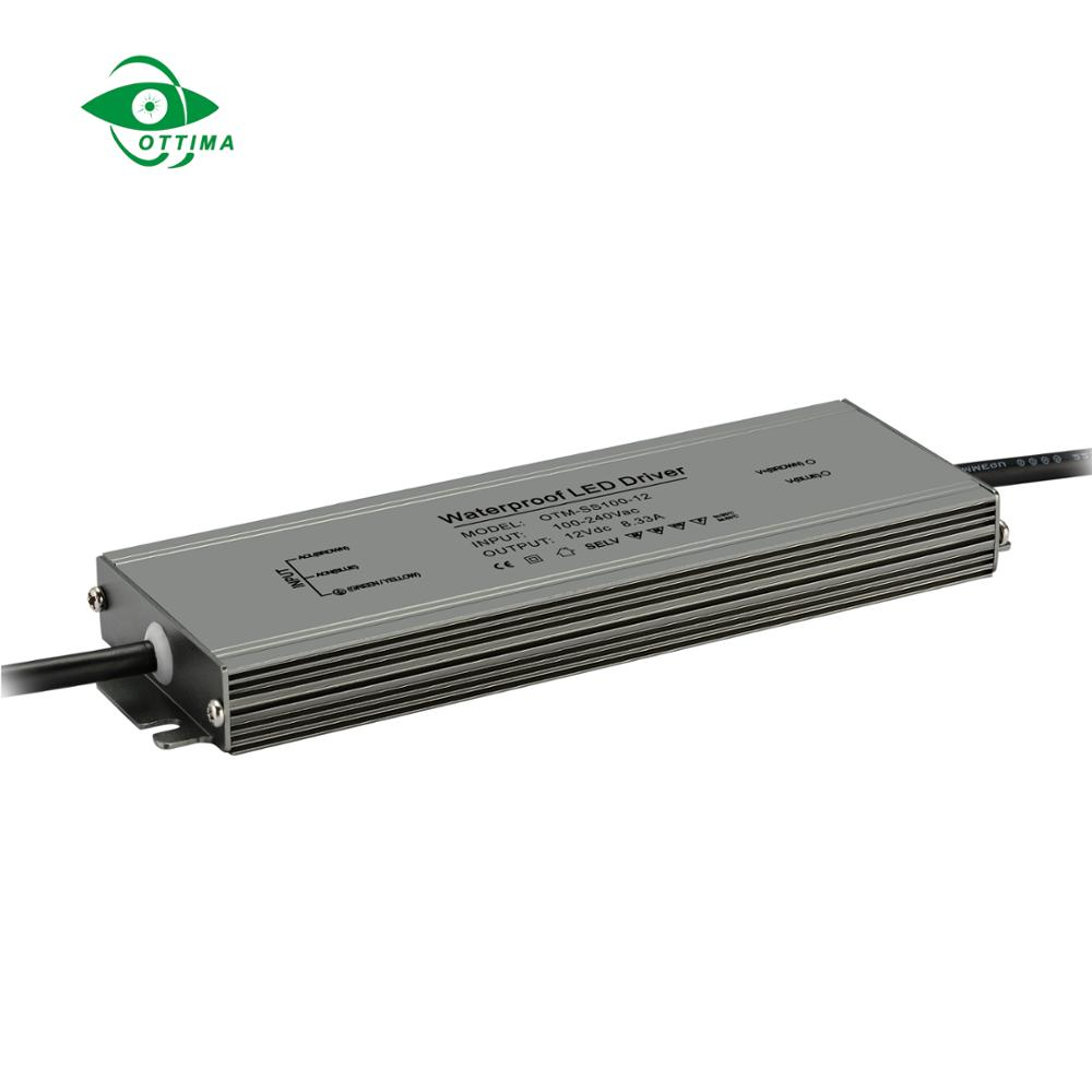Constant voltage Ip67 waterproof led power <strong>supply</strong> 12V 24V led driver 300W Ultra thin slim type