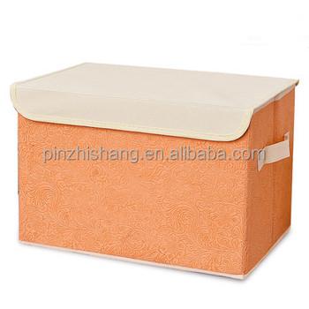 Decorative Storage Box With Lid Foldable Cardboard Storage Drawers Foldable  Storage Box Organiser