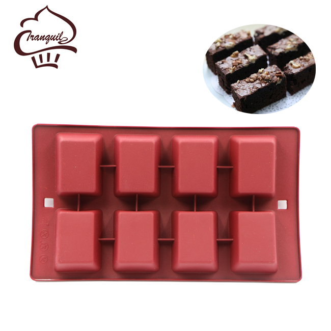 8 rectangular silicone soap molds silicone mold cake pan for kitchen tools