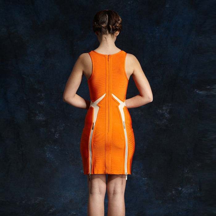Orange Color Latex Summer Dresses For Mature Women - Buy Dresses ...