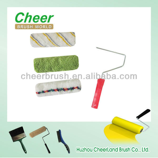 paint roller plastic handle and single rod frame