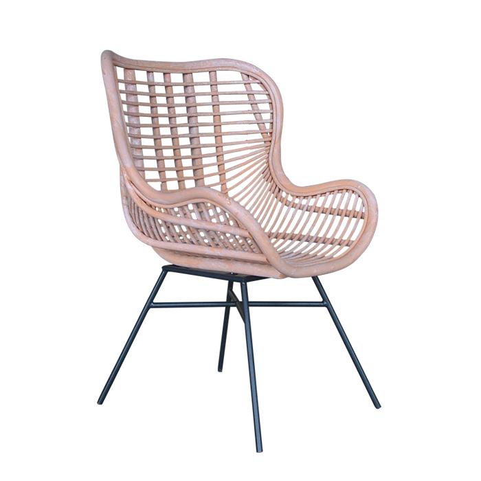 Handmade sofa europe style metal leg woven pink willow rattan wicker chair