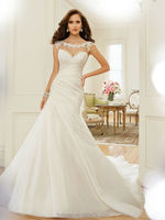 white lace high neck backless satin strap wedding dresses company