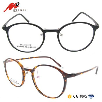 T90 Optical Eyeglasses Frames Tortoise,Round Elastic Optical Glasses ...