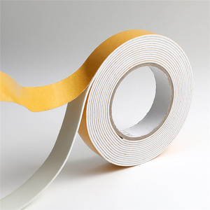 High density round foam tape for thermal insulation, double sided 1mm thick  foam tape