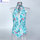 Wholesale hot OEM custom printing swimsuit one piece swimwear